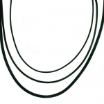 Necklace Black Rubber Cord Set 3 For Pendant 1mm, 1.5mm, 3mm Diameter 18 SALE