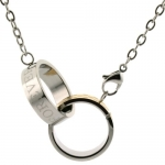 Interlocking Rings Love Forever Pendant Necklace Stainless Gold 24 Bucasi