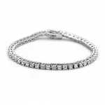 Sterling Silver Round Cut Cubic Zirconia Tennis Bracelet 7.25