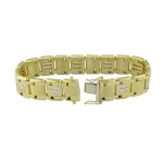 2.75 CT Men's Diamond Bracelet 18K Italian Yellow Gold (VS1-VS2 Clarity, 64 Grams)