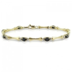 1-4/5 ct.t.w. Sapp and Dia Accent Bracelet in 10k YG, I1-I2, GHI