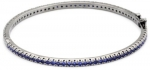 CZ by Kenneth Jay Lane Trend Cubic Zirconia Black Rhodium-Plated Silver Bracelet, 2.0 cttw