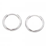 14k White Gold 11mm Solid Hinged Hoop Children's Earrings