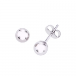 14k White Gold 5mm Ball Children's Earrings