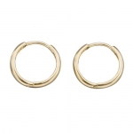 14k Gold 11mm Solid Hinged Hoop Children's Earrings