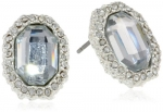 Kenneth Cole New York Pave Item Boost Crystal Pave Faceted Stud Earrings
