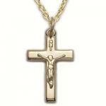 5/8 10k Gold Filled Crucifix Necklace on 18 Chain