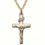 7/8 14K Gold Filled Crucifix Necklace on 18 Chain