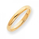 10K Yellow Gold Men's & Ladies 3MM Comfort Fit Wedding Band Size 5