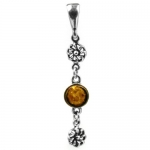 Baltic Honey Amber and Sterling Silver Classic Pendant