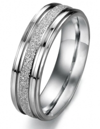 Titanium Stainless Steel Sand Finish Couple Wedding Band Comfort Fit, For Men 09