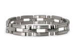 Tioneer Titanium Bracelet with Sterling Silver Inlay 8.5