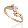 Imixlot 18k Gold Plating Luxury Engagement Rings