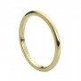Tungsten Carbide High Polish Yellow Gold Plated Thin Band 2mm Wedding Band Ring, 6.5 Size