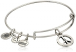 Alex and Ani Bangle Bar World Peace Rafaelian Silver Finish Expandable Bracelet