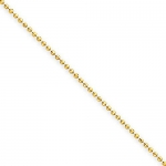 1.2mm 14K Yellow Gold High Polish Classic Ball Link Chain Necklace - 22 inches