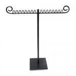 Metal T-Bar Jewelry Display for Necklaces and Pendants with Pewter Finish
