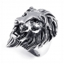 KONOV Jewelry Stainless Steel Lion Ring, Size 13