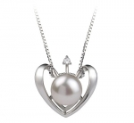 Heart White 9-10mm AA Quality Freshwater 925 Sterling Silver Pearl Pendant