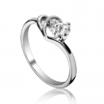 Fashion Plaza 18k White Gold Plated Use Swarovski Crystal Double Heart Engagement Ring Size 7