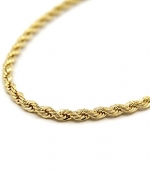 Mens 14K Yellow Gold Filled 5mm Rope Chain Necklace 28 Inches
