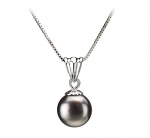 Nancy Black 9-10mm AA Quality Freshwater 925 Sterling Silver Pearl Pendant