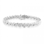 0.50 Carat tw Diamond Tennis Bracelet in Sterling Silver