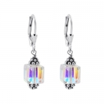 SCER013 Sterling Silver Crystal Designer Earrings Made with Swarovski Elements