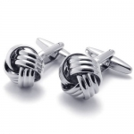 KONOV 2pcs Classic Shirts Mens Love Knot Cufflinks Wedding, Color Silver, 1 Pair