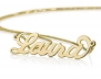 10k Gold Personalized Name Necklace - Name Pendant- Any Name (18 Inches)