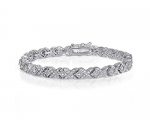 1ct TDW Diamond Miracle Set X Tennis Bracelet