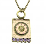 Retro the Drip Cubic Zirconia Carved Personalized Pendant Sweater Necklace