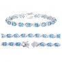 Vir Jewels Sterling Silver Blue Topaz Bracelet (7.50 CT)